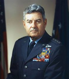 Curtis LeMay (1906 - 1990) US Air Force general, director of the Berlin Airlift, former head of the US Strategic Air Command