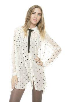 Polka Dot Babydoll Shirt