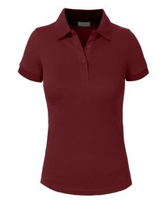 8bec9eb0 Women Golf Clothing - J. LOVNY Womens Basic Solid Short Sleeve Pique Polo  Shirt 16