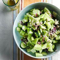 Cucumber Honeydew Salad with Feta.