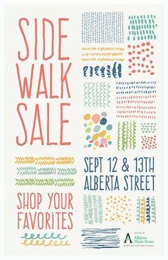 Alberta Street Sidewalk Sale. Saturday & Sunday September 12th & 13th.