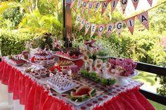 Sempre tive vontade de fazer uma festa com o tema Piquenique, mas tinha meus receios por causa do fator TEMPO. Ainda bem que encontrei uma mamãe disposta a se arriscar