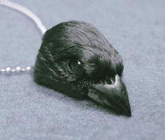 BLACK SPARROW CHOKER gothic taxidermy jewelry by CustomCreature, $58.00