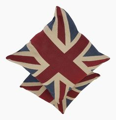 A Pair of Vintage Union Jack Flag Cushions (Complete with Pads )
