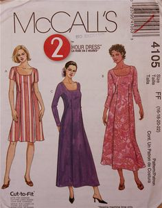 Dress Pleated  2000's  McCall's Pattern 4105  by patterntreasury, $8.95