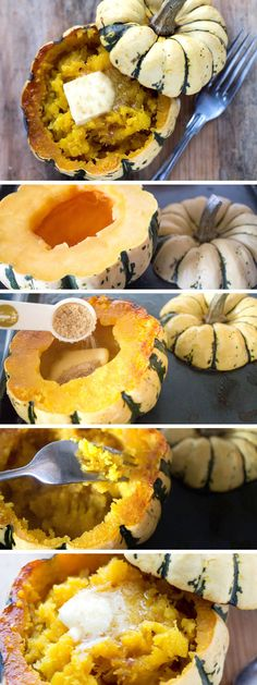 Buttery & Sweet Roasted Squash Mash - Erren's Kitchen - This simple side dish served in its shell makes a beautiful presentation. It's the perfect vegetarian side dish for holidays or dinner parties alike.