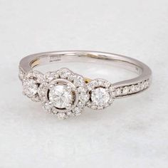 Helzberg Diamonds (@helzbergdiamonds) - helzbergdiamondsThree-stone engagement rings are popular for symbolizing the past, present, and future of your relationship. Oh, and that TRULY @ZacPosen ✨helps, too! #helzberg #ring #diamonds #engagement