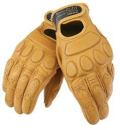 Dainese Blackjack gloves in tone Canguro. Retro nice!