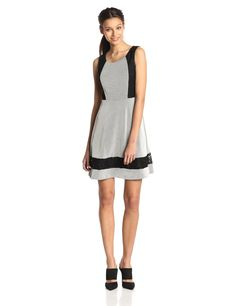 Sleeveless Texture Knit Fit and Flare Dress by Jessica Simpson