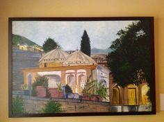Saidpur village Islamabad.Done in acrylic and is 26 in by 38 in size including the frame.