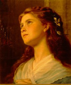Sophie Gengembre Anderson: Portrait of a Young-Girl