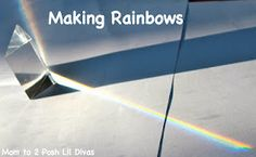 Are your kids fascinated by rainbow? Explore them with prisms - kids LOVE this activity.
