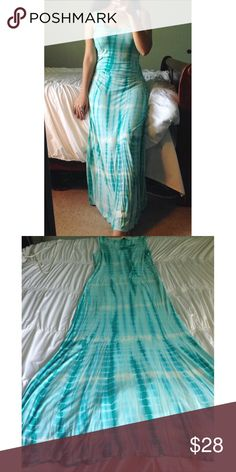 Blissfully blue• Maxi Feel like a goddess in this gorgeous tie dyed maxi dress! It's has a mixture of white and different tones of blues that would compliment any skin tone! It'a floor Length, about 53 in in total. Only wore it twice, it's in great condition! Purchased years ago while in a trip to Cancun! Not asos🎉Bundle & Save🎉 ASOS Dresses Maxi