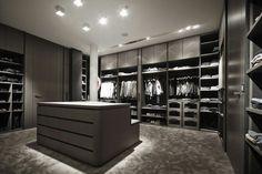 Luxury Closet Design & High End Closet Systems Walk In Closet Design, Bedroom Closet Design, Master Bedroom Closet, Closet Designs, Master Suite, Ideas Armario, Wardrobe Room, Dressing Room Design, Modern Closet