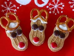 Easy Christmas Party Food Ideas -  Nutter Butter Reindeers - Click Pic for 20 Delicious Holiday Appetizer Recipes