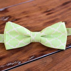 Mens green moroccan bow tie men's green cream by becauseimme
