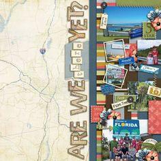 Travel Scrapbook Ideas | Scrapbooking Ideas |12X12 layout | Creative Scrapbooker Magazine  #travel #scrapbooking