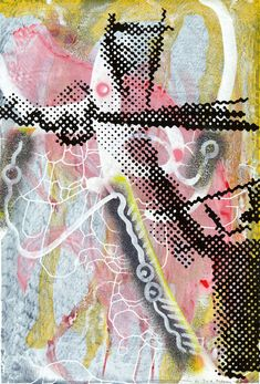 Untitled - Sigmar Polke - Lot 634 - Result: - Find all details for this object in our online catalog! Halftone Pattern, Abstract Words, A Level Art, Body Drawing, Graphic Illustration, Art Illustrations, Contemporary Art, Fine Art, Inspiration
