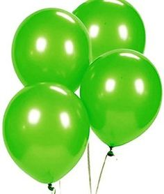 "Amazon.com: Custom, Fun & Cool {Big Large Size 12"" Inch} 1500 Bulk Pack of Helium & Air Latex Rubber Balloons w/ Modern Simple Celebration Party Special Event Decor Design [In Bright Lime Green]: Toys & Games"