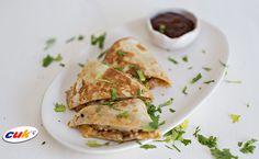 Receta de Quesadillas de Pollo CUK con salsa barbacoa Salsa Barbacoa, Ethnic Recipes, Food, Chicken Quesadillas, Eten, Meals, Diet