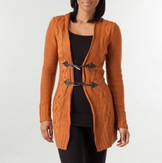 Toggle Button Long Cardigan