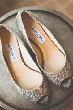 Jimmy Choo flats. Perfection. I have these! They are absolutely gorgeous! I wish I would have had them when josh and I got married!