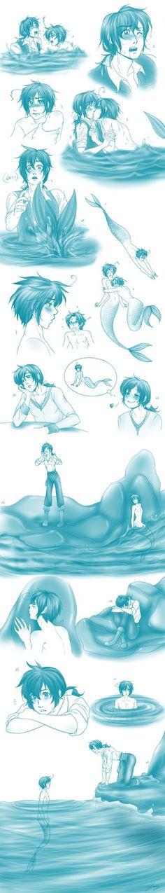 APH - Sketchdump - The Little Merman 2 by x-Lilou-chan-x