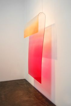 Craig Kauffman Loops Installation at Frank Lloyd Gallery