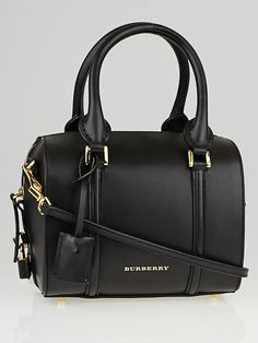 Burberry Black Leather Small Alchester Bowling Bag - Yoogi s Closet Bowling  Bags f83ace4debf5a