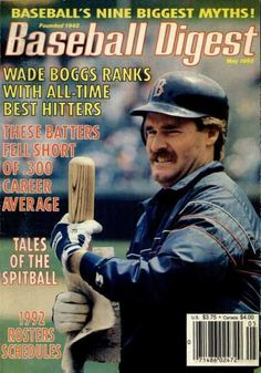 baseball digest covers | Baseball Digest Cover Wade Boggs All-Time Best Hitters