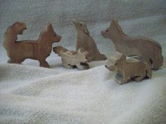 Wolf Pack :: Anne Moze All Wood Toys Online Shop