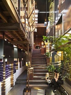 Interior, Left-Over-Space House, the winner of the 2013 World Architecture Festival House of the Year.