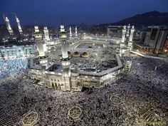 Muslim pilgrims circle the Kaaba as pray inside and outside the Grand mosque in Mecca, Saudi Arabia. The annual Islamic pilgrimage draws three million visitors each year, making it the largest yearly gathering of people in the world. Mecca Masjid, Masjid Al Haram, Machu Picchu, Pilgrimage To Mecca, Grand Mosque, Paris Skyline, City Photo, Cool Photos, Around The Worlds