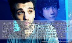 Oh yes, this is so true! His voice is so special, I love it in this whole awesome franchise!