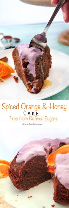 Spiced Honey and Orange Cake by Giraffes Can Bake - a delicious, moist cake, that is sweetened naturally and full of amazing spices and orange!