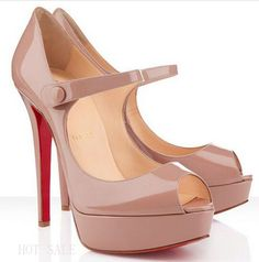 Let Christian Louboutin Bana 140mm Peep Toe Pumps Nude CKV With High Quality And Fast Delivery Bring You Wonderful Feeling!