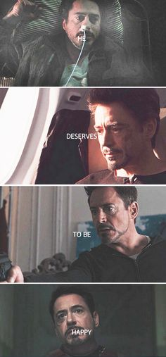 Tony Stark deserves to be happy!<<<< FEELS FEELS FEELS DX JUST LET HIM BE HAPPY!!!