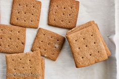 Graham Cracker Recipe - use these with the homemade marshmallows for making s'mores