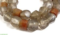 Clear Marvered Glass Trade Beads Translucent Old Africa