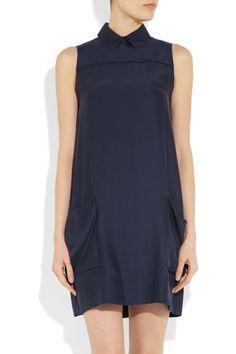 navy mini-dress