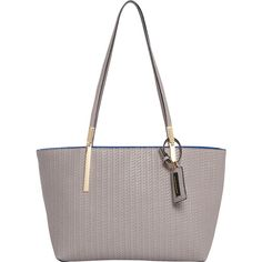 Hush Puppies Gigi Satchel ($57) ❤ liked on Polyvore featuring bags, handbags, grey, manmade handbags, purse pouch, zip purse, faux-leather handbags, man bag and purse satchel