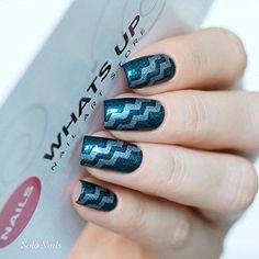 Amazon.com : Whats Up Nails - Regular Zig Zag Tape Nail Stencils Stickers Vinyls for Nail Art Design (1 Sheet, 122 Strips) : Beauty