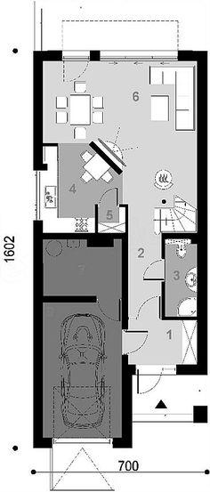 Projekt domu D102C 126,45 m2 - koszt budowy - EXTRADOM House Plans, Floor Plans, Houses, How To Plan, Homes, House Floor Plans, House, Computer Case, Floor Plan Drawing