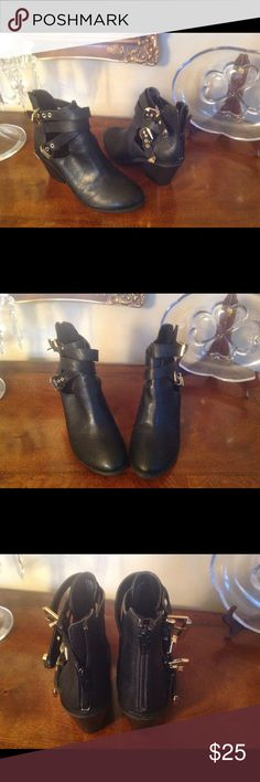 BLACK ANKLE BOOTS BLACK ANKLE BOOTS mooda Shoes Ankle Boots & Booties