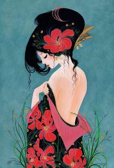 """La courtisane "" by cathy delanssay http://cathydelanssay.daportfolio.com/"