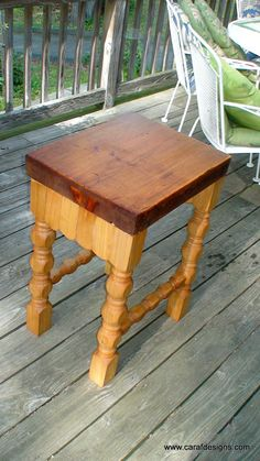 We now have butcher block tables  Anthony Raffaele www.carafdesigns.com