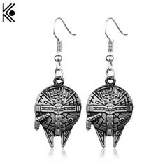ac46940fa STAR WARS Millennium Falcon Earring Spacecraft Vintage Style Earrings for  Woman Christmas Gift Star Wars Long Earrings-in Drop Earrings from Jewelry  ...