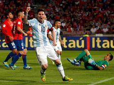 Argentina remontó y venció 2-1 a Chile por las Eliminatorias a Rusia 2018.