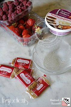 Tiramisu fruits rouges / speculoos et mascarpone