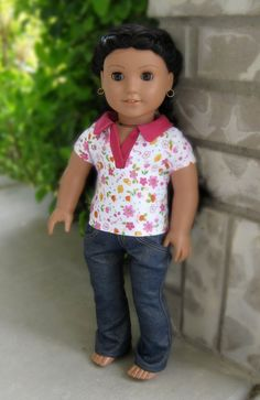 Etsy shout-out for Artistic Amy! Cute jeans and polo shirt - sewing patterns at www.libertyjanepatterns.com